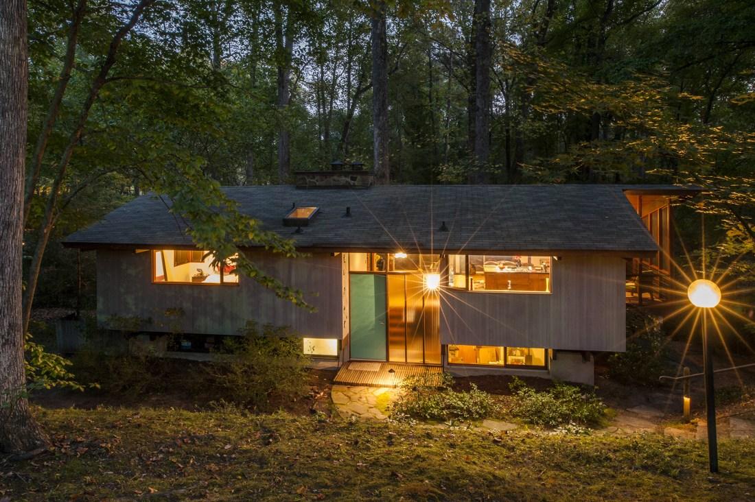 Mid Century Modern Architecture Rendering Art